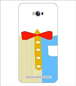 PrintDhaba Ribbon Design D-4839 Back Case Cover for ASUS ZENFONE MAX ZC550KL (Multi-Coloured)