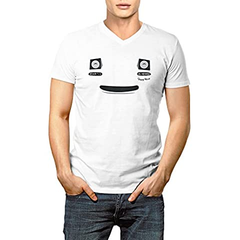 Mazda MX5 Miata Smile Face Funny Homme V-neck T-shirt XL