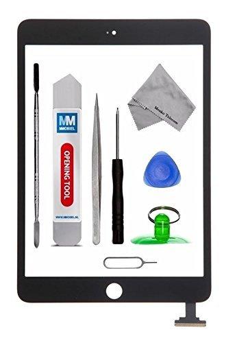 MMOBIEL Digitizer Display Glas für IPad Mini 3 (Schwarz) 7.9 Inch Touchscreen Ersatzteil Inkl Flex + Kamera Halterung + Klebesticker und Werkzeugset mit Anleitung (Mini Ipad Bildschirm Reparatur)