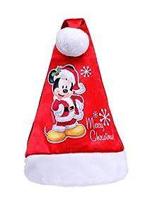 Ciao - Sombrero de Papá Noel Disney Mickey para niños, rojo, talla única, 90903