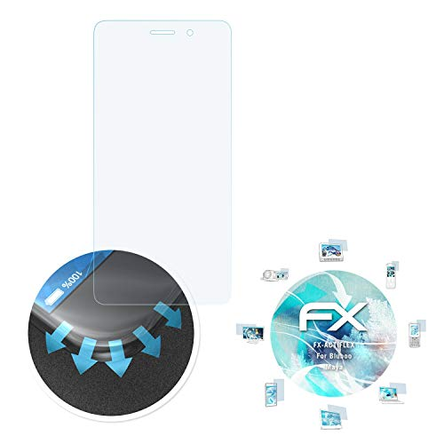 atFolix Schutzfolie passend für Bluboo Maya Folie, ultraklare und Flexible FX Displayschutzfolie (3X)