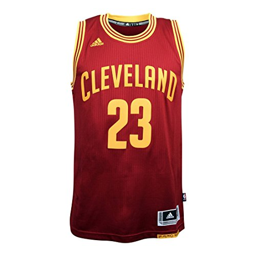 Adidas Herren NBA T. Parker San Antonio Spurs Swingman Jersey, Wine/Rot/Gelb, M