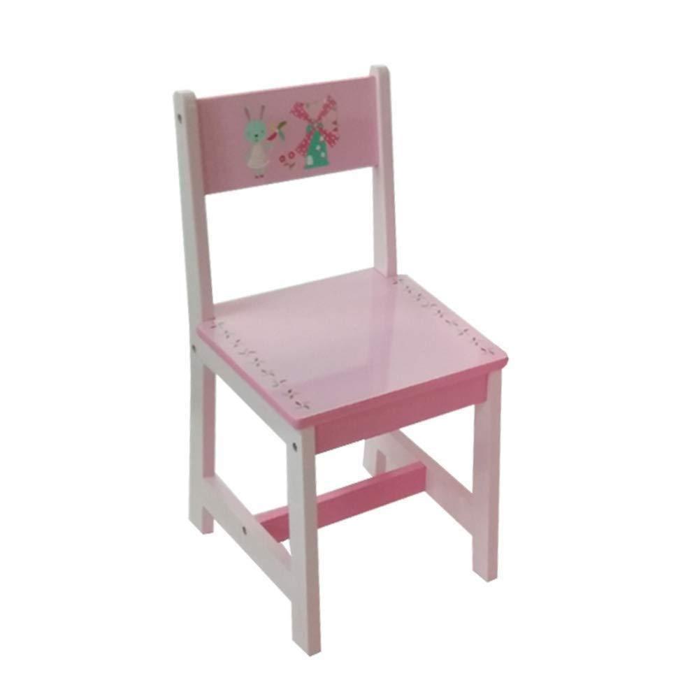 ODT - Set Tavolo e sedie per Bambini, in Legno, 1 Tavolo, 2 sedie, 1 Tavolo  e 2 sedie Coniglio e Mulino a Vento