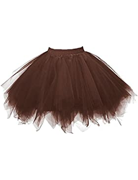 Honeystore Women's Short Vintage Ballet Bubble Puffy Tutu Petticoat Skirt