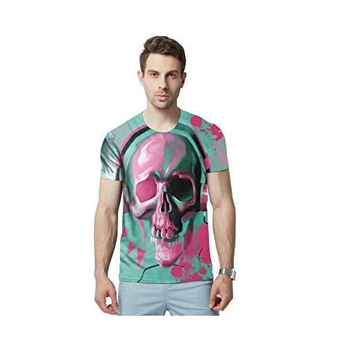 AFYH Herren T-Shirt/Paar Kurzarm/Halloween/Kostüm/Weste/Unterhemd/Sport/Casual/Polyester/Fashion/Cooling/Breathable,XXXL (Sport Paar Halloween-kostüme)