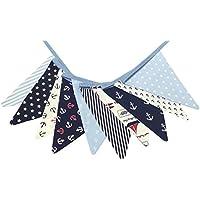Wimpelkette aus Baumwolle - mit 10 Wimpeln - Gesamtlänge 3,20 m - maritim - Geschenk Geburtstag