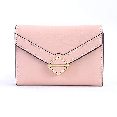 XHLLX Damen Zip Wallet, Kleine Und Kurze Kartenpackung Multi-Card-Akkordeon-Kupplung Multifunktionaler Kartenhalter Für Geldbörsen,Pink -
