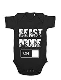 GIOVANI & RICCHI Baby Kinder Strampler Beast Mode Fitness Baby in verschiedenen Farben
