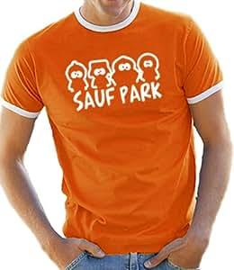 Sauf Park T-Shirt S - XXL Ringer / Contrast Various Colours orange/white Size:S