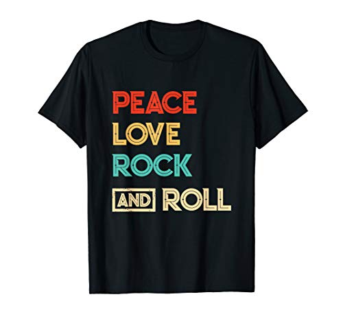 Peace Out Tee (Peace Love Rock And Roll T-Shirt Rock Lover Concert Vintage)