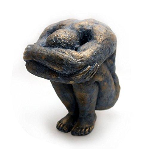 Gall&Zick Design Dekoration Skulptur Mann Deko Figur Statue Akt Kunst Modern Polyresin - Kunst Skulptur