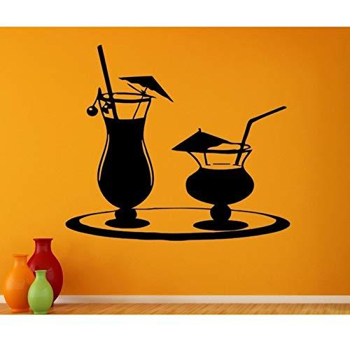 Qbbes Saft Aufkleber Kaffee Likör AufkleberVinyl KunstwandtattoosDekor Wandbild Tee Aufkleber 50X57 Cm