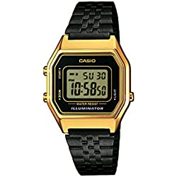 6dbd4b707e57 Casio Collection Reloj Digital para Mujer con Correa de Acero Inoxidable –  LA680WEGB-1AEF