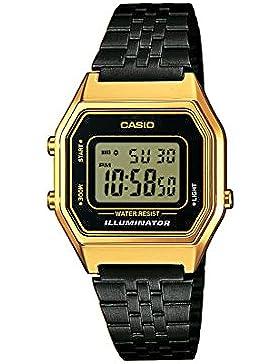 Casio Damen Digital mit Edelstahl Armbanduhr LA680WEGB1AEF