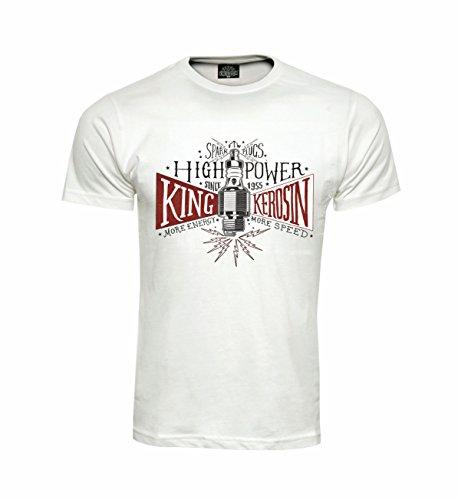 King Kerosin T-Shirt FTW High Power Weiß