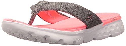 Skechers Women on-the-Go 400-Vivacity Flip Flops, Grey (Charcoal/Pink), 7 UK 40 EU