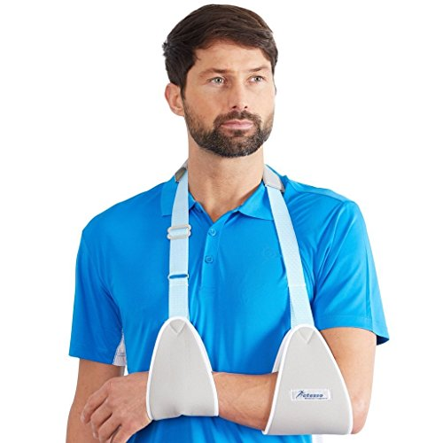 Cabestrillo para brazo eslinga Actesso. Inmoviliza y estabiliza el brazo tras lesiones del brazo, la muñeca o la mano para sujeción de escayola (Mediana)