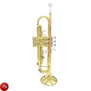 Andoer® Tromba Sib B Brass Piatto Fosforo Rame Exquisite con Bocchino Spazzola di Pulizia del Guanto Strap