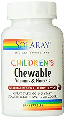Solaray Childrens Chewable (Cherry Flavor) 60Comp.mast.