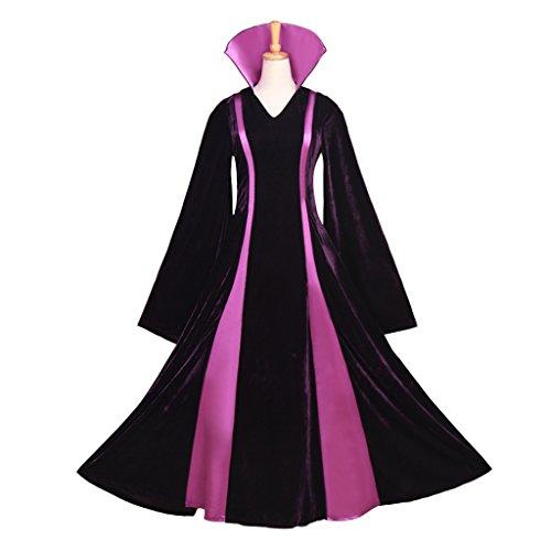 Cosplayitem Damen Mittelalter Kleid und Cape Cloak Halloween Kostüm Hexe Cosplay (Kostüme Gothic Hexe Adult)