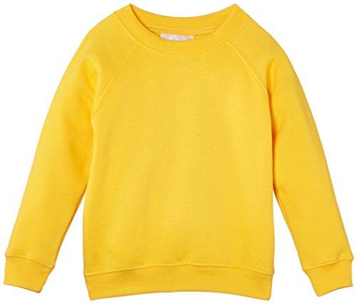Trutex Limited 260G Crew Neck, Sudadera para Niños, Amarillo (Yellow), 13 años (Talla del fabricante: S)