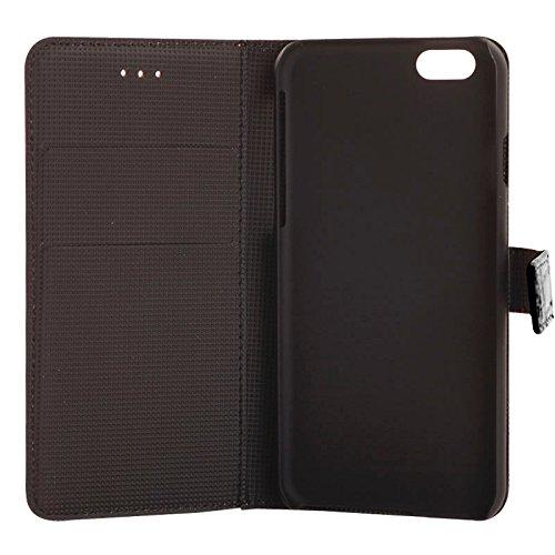 Phone case & Hülle Für IPhone 6 / 6S, Krokodil Textur Leder Tasche mit Halter und Card Slots ( Color : White ) Black
