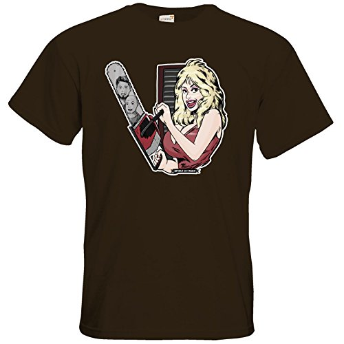 getshirts - Rocket Beans TV Official Merchandising - T-Shirt - Spiele mit Bart - Dolly Chocolate