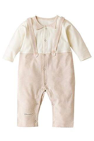 Poliking Unisexe Bébé Naturel Coton Bio Coton Sans Manteaux Longs Imprimé Avec Body Bracelet (M (6-9