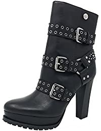 Guess Designer Donna Donna in Pelle alla Caviglia Tacco Alto Scarpa Stivale Taglia 8 41
