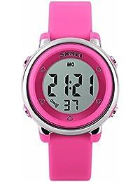 Kids Digital reloj deportivo, niños y niñas deportes al aire libre relojes, Girls LED