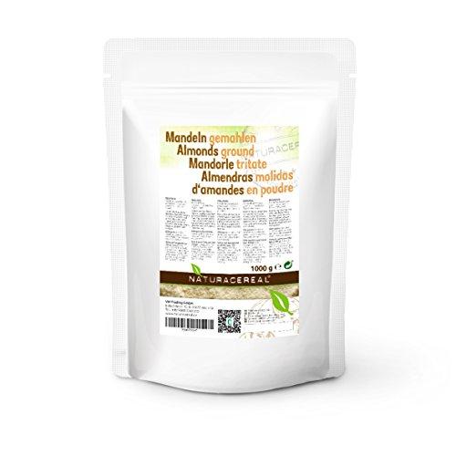 Harina de almendras 1Kg - NATURACEREAL | Libre de gluten | Apto para veganos