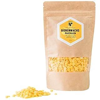 Cire d'abeille Naturelle et Pure - 200 g de Cire d'abeille Jaune, Convient pour Les pâtes Naturelles et la Fabrication de Bougies