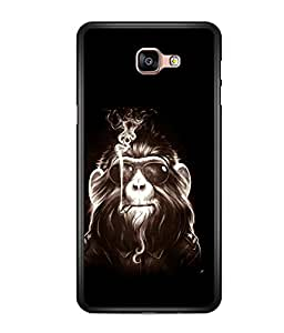 printtech Cool Monkey Glasses Smoke Back Case Cover for Samsung Galaxy A9 (2016)