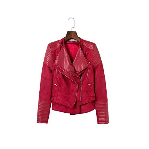 Liuxiaomiao Damen Windjacke Kurze Lederjacke Mode Pu Imitation Damenjacke Regular Small Slim Short...