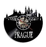 Zihan9 Magique Horloge Murale Tracteur agricole Element Sourdine Creative Home Decor Vintage Record Vinyle Cadeau De Noël Horloge 12 Pouces...