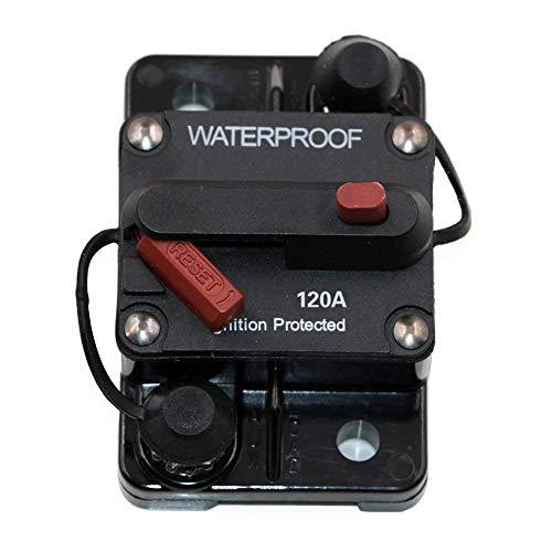 Alexsix Fusible a Prueba de Agua 30A-250A Amp Manual Reset Interruptor de Circuito Tipo III