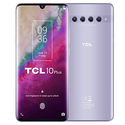 "Oferta de TCL 10 Plus - Smartphone de 6.47"" AMOLED FHD+ con NXTVISION (Qualcomm 665 4G, 6GB/64GB Ampliable MicroSD, Dual SIM, Cámaras 48MP+8MP+2MP+2MP, Batería 4500mAh, Android 10 actualizable) Plata"