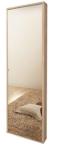 Valentini nettuno scarpiera 1 anta a specchio, legno,, 25x49x178 cm