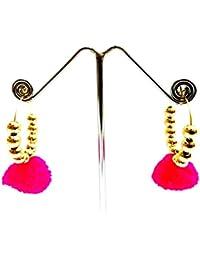 Floret Jewellery Traditional Gold Plated Chandbali/Jhumki Earring For Women & Girls