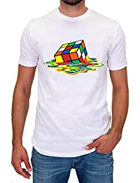DSguided Melting Rubik Sheldon Zauberwürfel Herren T-Shirt theory tbbt cooper big bang dvd