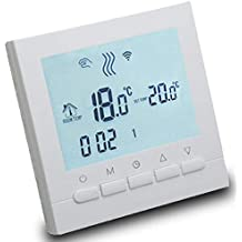 AVStar - Termostato inteligente programable para calefacción de calderas de gas - Pantalla LCD para facilidad
