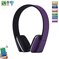 Galaxy Note 8 Bluetooth Headphone, TechCode New sports Running Headset Wireless Stereo Bluetooth Headphone Adjustable Head Type 4.0 Bluetooth Earphone Mic for iPhone 7, 7 Plus, iPhone 8, 8 Plus, iPhone X, Samsung Galaxy Note 8, S7 Edge,Tablet PC/Other Bluetooth Moblie Phone -Purple