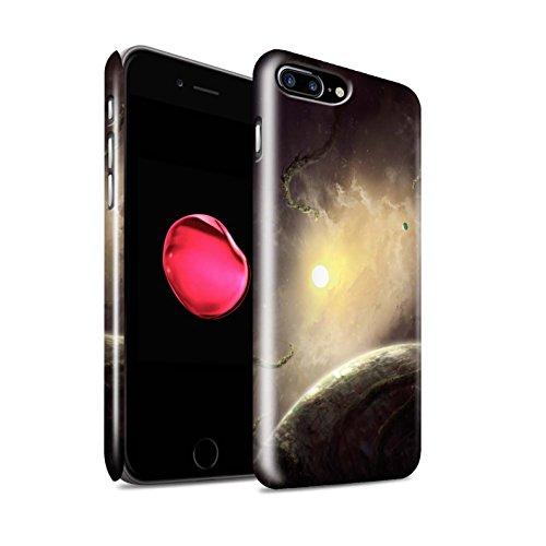 Offiziell Chris Cold Hülle / Glanz Snap-On Case für Apple iPhone 8 Plus / Raumfahrzeug Muster / Galaktische Welt Kollektion Entfernten Stern