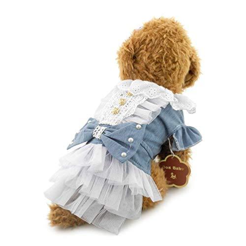 (LLYU Pet Kleidung Rock kleiner Hund Kleidung Haustier Kleidung niedlich Prinzessin Kleid (größe : Xs))