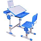 Furniture First ORBITER Height Adjustable Imported Kids Study Table & Chair With Rotatable Height Lock System & Book Stand, Suitable For Kids 3-15 Years, Blue