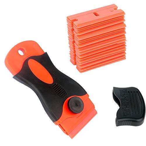 Gebildet Rascador de vidrio y vitrocerámica - Especial para Vitro-Cerámicas y Placas de Inducción-25 piezas Cuchillas de Plastico, con Sin Rasguño