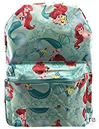 Kleine Meerjungfrau Prinzessin Ariel & Flunder 16 '' IN Rucksack
