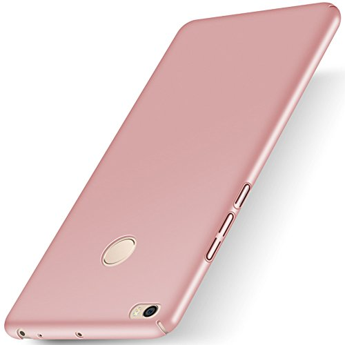 """XMT Xiaomi Mi Max 2 6.44"""" Funda,Calidad Premium Cubierta Delgado Caso de PC Hard Gel Funda Protective Case Cover para Xiaomi Mi Max 2 Smartphone (Rosa Claro)"""