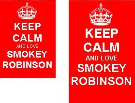 Keep Calm And Love Smokey Robinson Novelty Keyring and Fridge Magnet Set