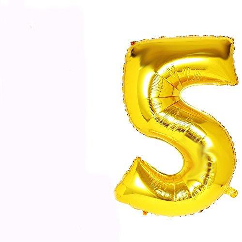 Außenwandleuchte 101,6cm Gold groß Folie Helium Alphabet Buchstabe Ballon Hochzeit Party A-Z (A) Zahl 0–9gold Blow Up Folie
